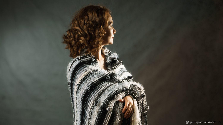Knitted plaid Black and White Boho, Blankets, Volgograd,  Фото №1