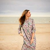 Одежда handmade. Livemaster - original item Linen shirt dress