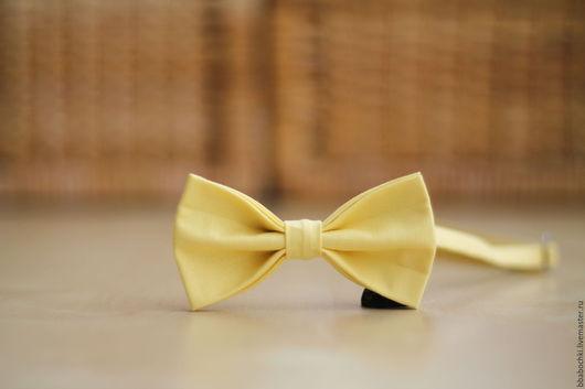 Галстуки, бабочки ручной работы. Ярмарка Мастеров - ручная работа. Купить Бабочка лимонная детская/взрослая. Handmade. Лимонный, купить бабочку