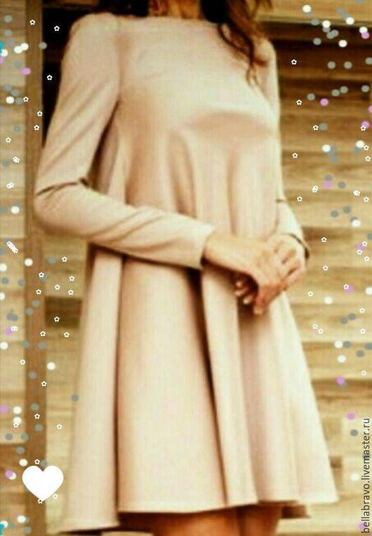 Платья ручной работы. Ярмарка Мастеров - ручная работа. Купить Трапеция платье. Handmade. Бирюзовый, туника летняя, туника пляжная