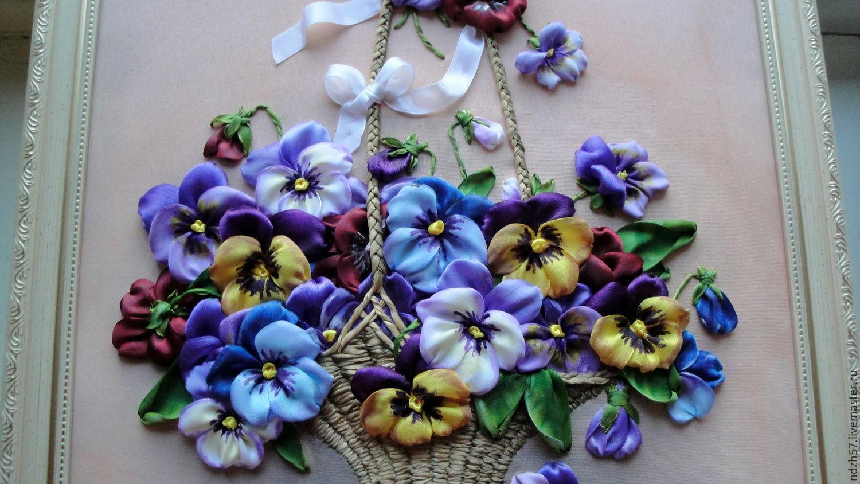 Вышивка лентами цветов 89