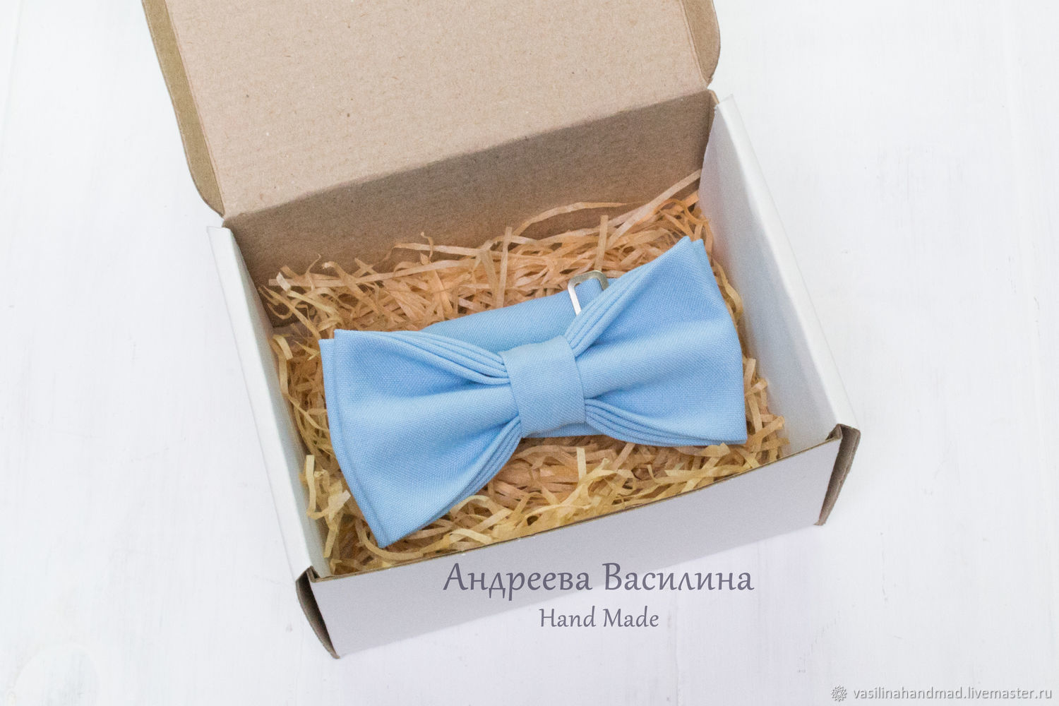 Blue solid bow tie, Ties, Rostov-on-Don,  Фото №1