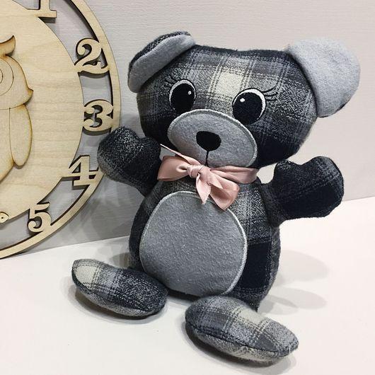 Игрушки животные, ручной работы. Ярмарка Мастеров - ручная работа. Купить Медвежонок Потапкин. Текстильная игрушка с машинной вышивкой.. Handmade.