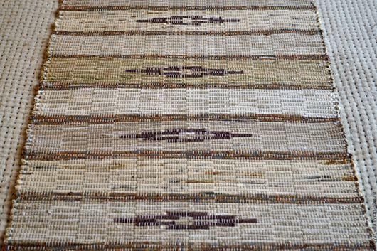 Текстиль, ковры ручной работы. Ярмарка Мастеров - ручная работа. Купить Половик ручного ткачества (№ 84). Handmade. Бежевый