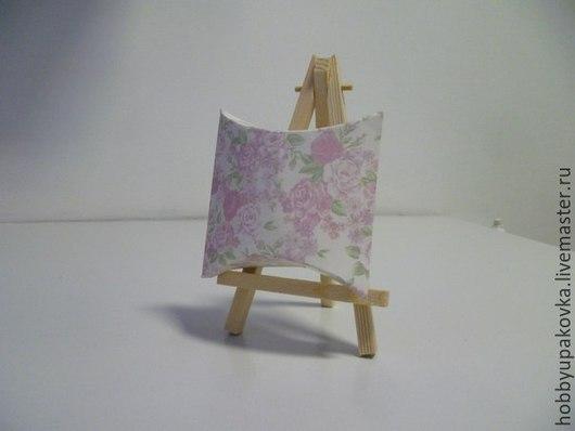 Упаковка ручной работы. Ярмарка Мастеров - ручная работа. Купить Коробка-подушка с цветочным принтом. Handmade. Крафт, коробка для украшений