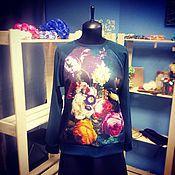"""Одежда ручной работы. Ярмарка Мастеров - ручная работа Свитшот """"Цветы"""". Handmade."""