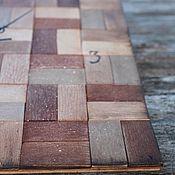 Для дома и интерьера ручной работы. Ярмарка Мастеров - ручная работа часы настенные деревянные рустик-паркет. Handmade.