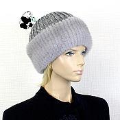 Аксессуары handmade. Livemaster - original item Luxury women`s hat made of Finnish mink fur on knitwear DF-90. Handmade.