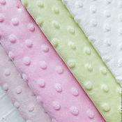 Материалы для творчества ручной работы. Ярмарка Мастеров - ручная работа Лоскуты плюша Minky Dot (размеры и цена в описании). Handmade.