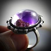 Украшения handmade. Livemaster - original item Amethyst, silver: ring
