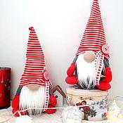 Сувениры и подарки handmade. Livemaster - original item Festive Gnome interior toy, a gift for the new year. Handmade.