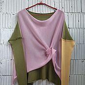 Одежда ручной работы. Ярмарка Мастеров - ручная работа КН_003_ОША Блузон 3-хцветный. Handmade.