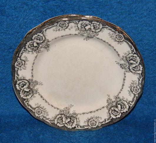 Винтажная посуда. Ярмарка Мастеров - ручная работа. Купить Антикварная тарелка Rorstrand Greta 1758-1884г. Handmade. Антиквариат, золочение