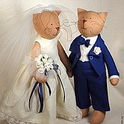 Куклы и игрушки ручной работы. Ярмарка Мастеров - ручная работа Тильда Свадебные кошки. Handmade.
