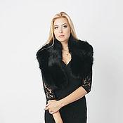 Аксессуары handmade. Livemaster - original item Fox fur stole black. Handmade.