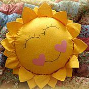 Для дома и интерьера ручной работы. Ярмарка Мастеров - ручная работа подушка  солнце. Handmade.