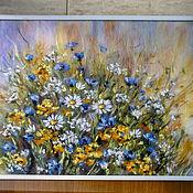 """Картины и панно handmade. Livemaster - original item Painting of wool """"Memories of summer"""". Handmade."""