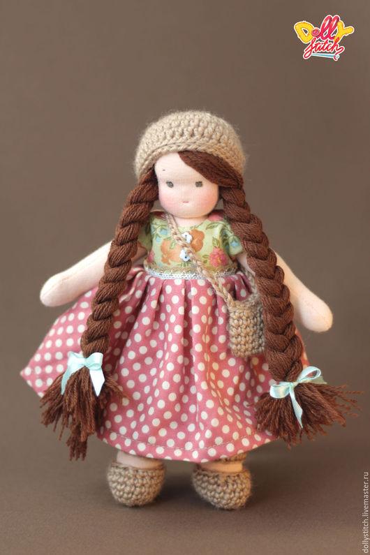 Вальдорфская игрушка ручной работы. Ярмарка Мастеров - ручная работа. Купить Вальдорфская куколка Цветочек. Handmade. Коралловый, шитье