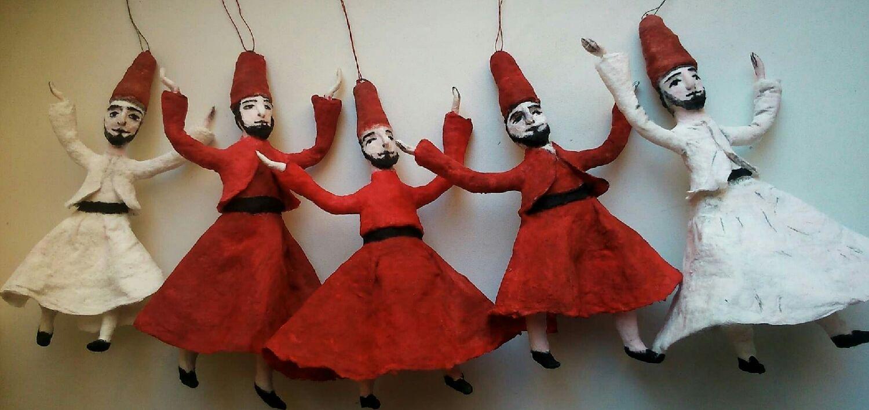 Дервиши, ватные ёлочные игрушки, Куклы, Екатеринбург, Фото №1