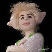 Куклы и игрушки ручной работы. Ярмарка Мастеров - ручная работа Авторская войлочная кукла Эльф Зеленый горошек. Handmade.