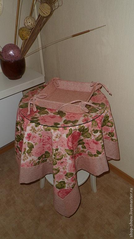 Текстиль, ковры ручной работы. Ярмарка Мастеров - ручная работа. Купить Скатерть Розы. Handmade. Розовый, английская роза, красный