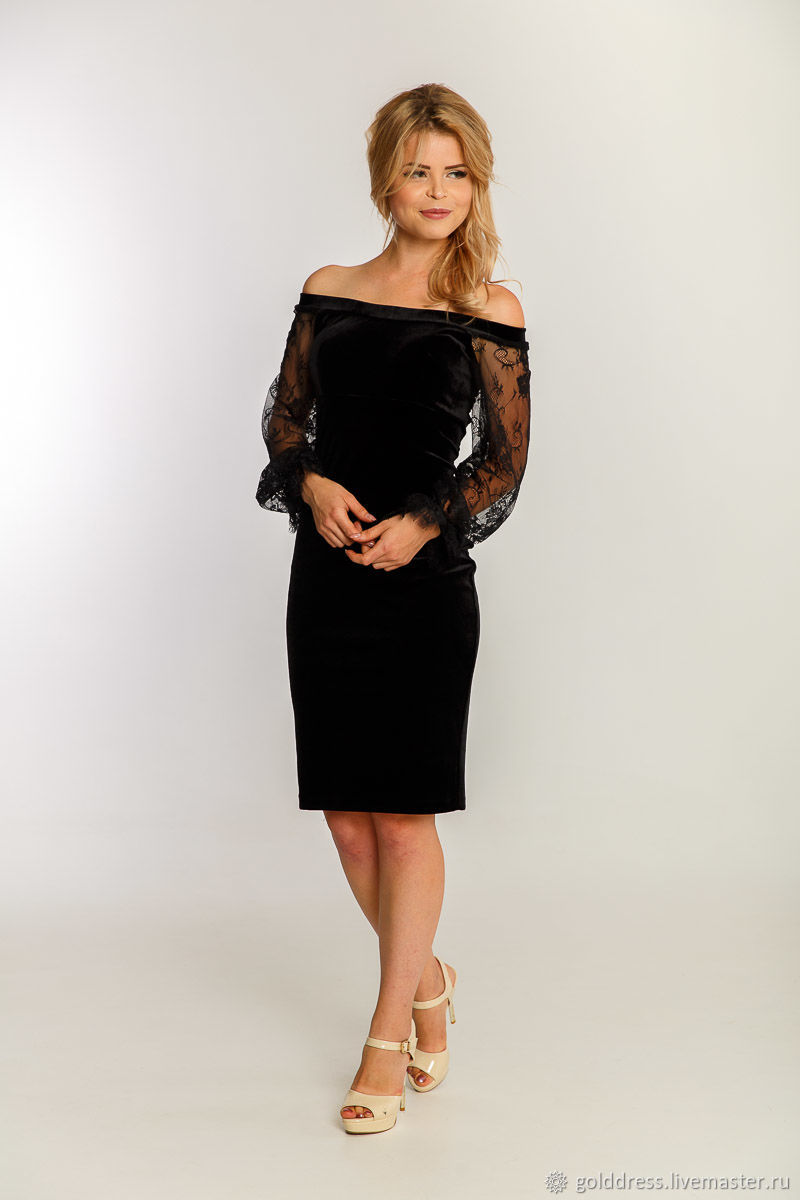 Cocktail black dress – shop online on Livemaster with shipping ...
