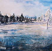 Картины и панно handmade. Livemaster - original item Painting watercolor ICE DESERT. Handmade.