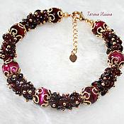 Bead bracelet handmade. Livemaster - original item Bracelet grenade