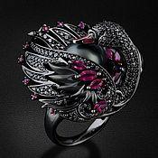 """Украшения ручной работы. Ярмарка Мастеров - ручная работа Дизайнерское кольцо """" Черный лебедь """". Handmade."""