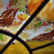 Для дома и интерьера ручной работы. Ярмарка Мастеров - ручная работа Витраж потолочный, фьюзинг тиффани. Handmade.