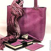 Сумки и аксессуары handmade. Livemaster - original item Purple leather bag accessories
