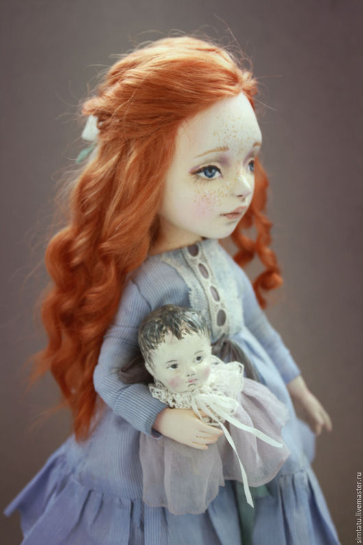 Коллекционные куклы ручной работы. Ярмарка Мастеров - ручная работа. Купить Поцелуй солнышка. Handmade. Рыжий, кукла из пластика