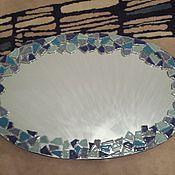 Для дома и интерьера ручной работы. Ярмарка Мастеров - ручная работа Зеркало овальное с мозаикой. Handmade.