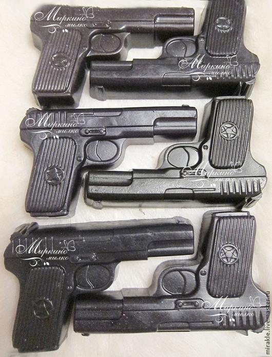 Мыло ручной работы. Ярмарка Мастеров - ручная работа. Купить Мыло Пистолет. Handmade. Черный, мыло ручной работы
