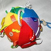 """Куклы и игрушки ручной работы. Ярмарка Мастеров - ручная работа Развивающий мячик """"Радуга"""". Handmade."""