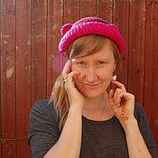 Аксессуары ручной работы. Ярмарка Мастеров - ручная работа шляпка мишка - мимимишка розовое ушко)). Handmade.