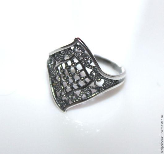 """Для украшений ручной работы. Ярмарка Мастеров - ручная работа. Купить Основа для кольца """"Ромбик"""" - серебрение 925 пробы. Handmade."""