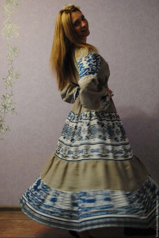 Платья ручной работы. Ярмарка Мастеров - ручная работа. Купить Платье Матрешка. Handmade. Комбинированный, Платье нарядное, платье на заказ
