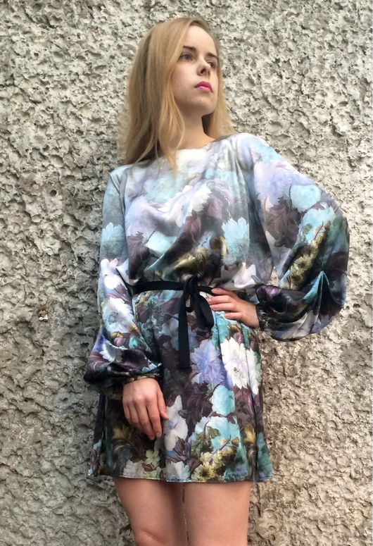 Платья ручной работы. Ярмарка Мастеров - ручная работа. Купить Платье из натурального шелка рр 42-46. Handmade. Платье