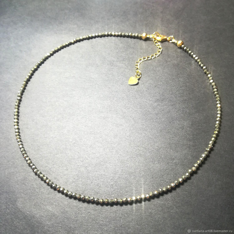 Pyrite choker ' Glitter of gold', Chokers, Sergiev Posad,  Фото №1