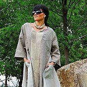 Одежда ручной работы. Ярмарка Мастеров - ручная работа Бохо платье из льна и хлопковой пряжи (№140). Handmade.