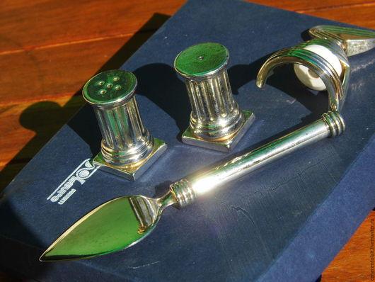Винтажная посуда. Ярмарка Мастеров - ручная работа. Купить набор из 4х предметов - солонка, перечница, пробка для бутылки и нож д. Handmade.