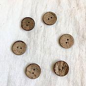 Материалы для творчества handmade. Livemaster - original item Buttons: wooden round brown-Coconut buttons. Handmade.