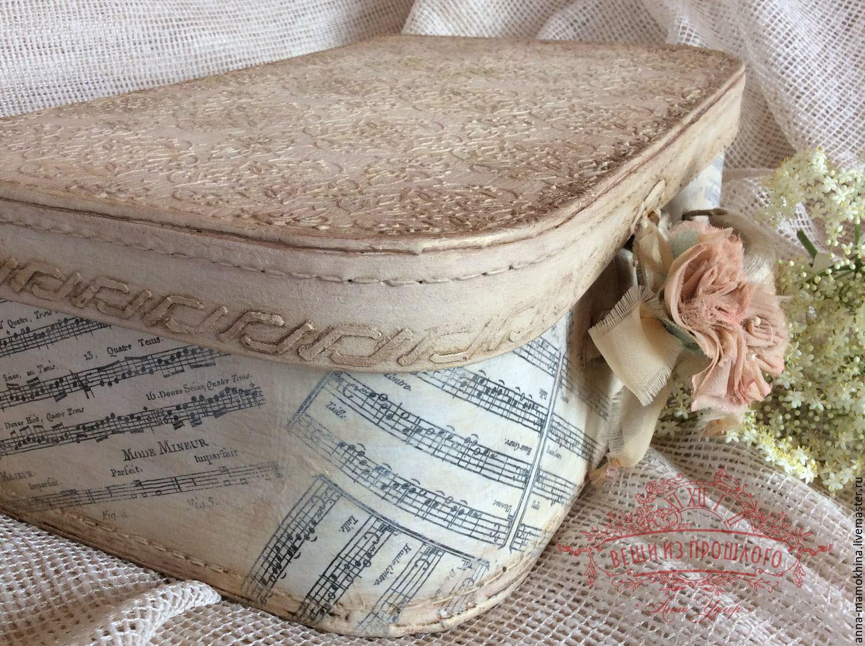 Чемодан винтажный  декупаж Забытая мелодия
