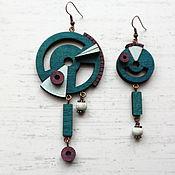 Earrings handmade. Livemaster - original item Earrings classic: asymmetric earrings Sputnik. Handmade.