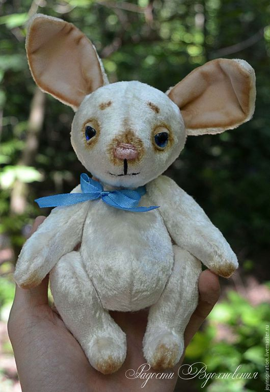 Игрушки животные, ручной работы. Ярмарка Мастеров - ручная работа. Купить Плюшевый заяц тедди. Handmade. Белый, тедди