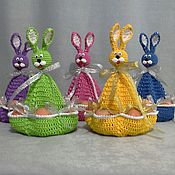 Подарки к праздникам ручной работы. Ярмарка Мастеров - ручная работа Семья Пасхальных кроликов. Handmade.