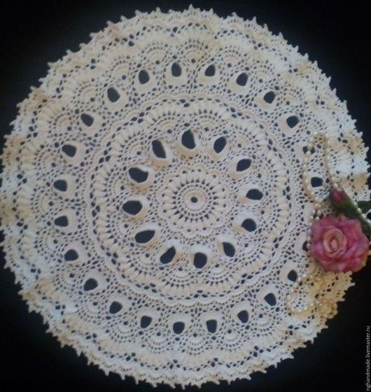 Текстиль, ковры ручной работы. Ярмарка Мастеров - ручная работа. Купить Салфетка крючком  №9. Handmade. Белый, текстиль для дома