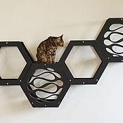 Зоотовары handmade. Livemaster - original item Four hexagon houses for cats