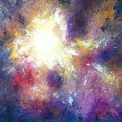 Картины и панно handmade. Livemaster - original item Painting with pastels - light star. Handmade.